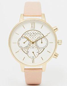 Olivia Burton - Montre chronographe à grand cadran - Vieux rose chez ASOS - photo shoping tenuedujour lookdujour mode femme ete achat fashion mignon jolie tendance ootd lux accesoires bijoux