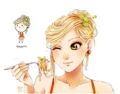 spaghetti by `meago on deviantART