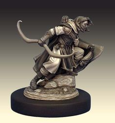 Ranger from Dark Sword Miniatures painted by Jennifer Haley. Love this monochrome effect!