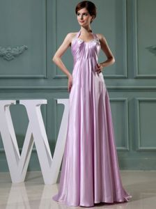 Beaded Satin Long Evening Gown Dresses in Lavender