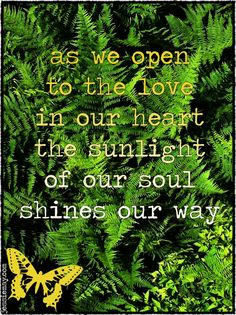 ♥ as we open to the love in our hearts,  the sunlight of our soul shines the way ♥