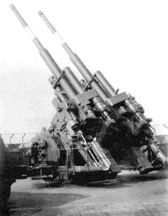 12.8 cm FlaK 40 heavy anti-aircraft gun, one of the effective weapons of its type during WWII.