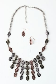 Coin Bar Statement Necklace