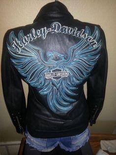 """Harley Davidson Leather Jacket """"Arabelle"""" L 97173 07VW"""