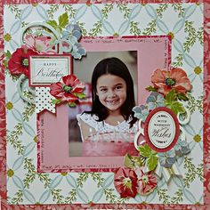 Today I'm sharing some projects using Anna Griffin's new Vintage Collage Card Toppers. Scrapbook Examples, Scrapbook Designs, Scrapbook Page Layouts, Scrapbooking Ideas, Wedding Scrapbook Pages, Birthday Scrapbook, Disney Scrapbook, Anna Griffin Cards, Paper Crafts