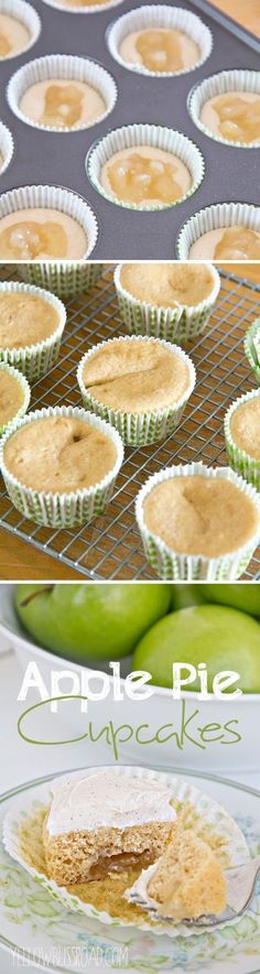 Desserts   Apple Pie Cupcakes with Cinnamon Cream Cheese Frosting
