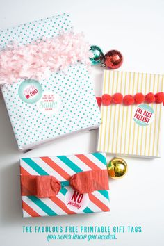 The Fabulous Free Printable Gift Tags you never knew you needed.