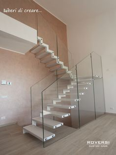 Scala vetro soggiorno   Stairs   Pinterest   Scale, Staircases and ...