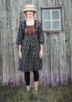 """Hanna"" eco-cotton dress - GUDRUN SJÖDÉN - I really like the look of this - but not sure if it's right for me."