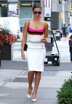 Jessica Alba's Barney's Shopping Narciso Rodriguez Resort 2013 Dress