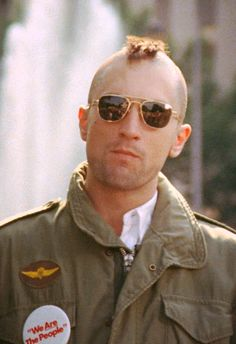 How to make your own homemade DIY Travis Bickle Costume from the movie Taxi Driver. Like Robert DeNiro for halloween, cosplay or fancy dress costume Color In Film, World Movies, Favorite Movie Quotes, Cartoon Tv Shows, Hooray For Hollywood, Military Style Jackets, Martin Scorsese, Taxi Driver, Movie Costumes