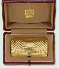 Cartier Gold and Ruby Case