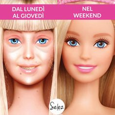 weekdays vs weekend #makeuphumor #makeupmeme