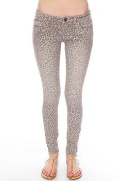 Leopard II Skinny Jeans in Grey $40 at www.tobi.com