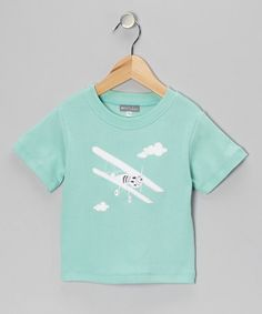 Take a look at this Teal Airplane Tee - Infant & Toddler by Petit Confection on #zulily today!