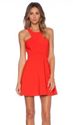 $188, Red Skater Dress: Naven Nbd X Twins Believe Me Skater Dress. Sold by Revolve Clothing. Click for more info: https://lookastic.com/women/shop_items/242827/redirect