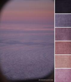 Color Palette: Sunset at 30,000 Feet