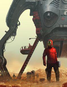 Dive into The Art of Jaroslaw Marcinek, a Freelance Illustrator, Comic and Concept Artist from Poland. Arte Sci Fi, Sci Fi Art, Cyberpunk, Illustrations, Illustration Art, Space Opera, Arte Tribal, Futuristic Art, Science Fiction Art