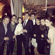 """""""""""The Downton Abbey cast (Lily James, Michelle Dockery, Laura Carmichael, Allen Leech, Matt Barber) reunites in Los Angeles on February 23rd and 25th. """" """" .."""