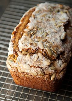 """pumpkin tea cake recipe...I love the idea of the topping on this, but I am not sure I want to mess with my never fail recipe from 40 years ago"""
