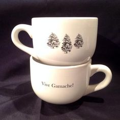 Vive Gamache! mugs from Brome Lake Books / Livres Lac Brome (Louise Penney, Three Pines)....gotta have these!!