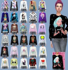 PinkQueen Sweaters ts4mm recolors at Gisheld • Sims 4 Updates