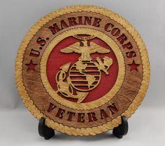 "Camo U.S 11/"" X 1/"" Made in U.S! - NEW MARINE CORPS VETERAN- Mantle Plaque"
