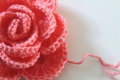 Crochet Rose Pattern Tutorial 21 by Anne Butera