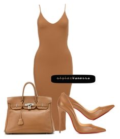 Untitled #638 by vanessa-antar on Polyvore featuring polyvore fashion style Christian Louboutin Hermès clothing