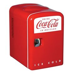 Coca-Cola 0.14 cu. ft. Retro Fridge in Red-KWC-4-2 at The Home Depot