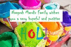 Navgrah Mandir Wishing a very bright,colourful and joyful holi.  www.navgrahmandir.com Family Wishes, Spiritual Thoughts, Daily Horoscope, Joyful, Reading Online, Helping People, Holi, Worship, Astrology