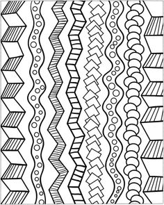 zentangle - dooding - doodle designs -Variety of background patterns ...