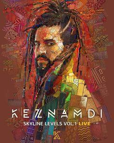 Poster for Keznamdi's US tour. #mosaic #Africa #music #reggae #portrait #poster #graphicdesign