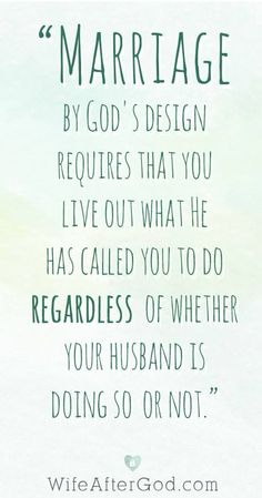 Marriage is God's design!  Some people think once they are married, they can quit working and that isn't the case.  You have to continue to love and appreciate each other  :o)