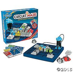 Get your synapses firing and ignite your logic skills with Circuit Maze! The goal of this single-player brainteaser game is to arrange your tokens in a real circuit that lights up the different colored beacons. #MindWareToys