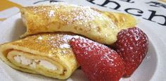Low Carb Vanilla Ricotta Crepes with Strawberries - Phase 1