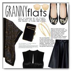 """Cute Trend: Granny Flats"" by cassandria ❤ liked on Polyvore featuring Kate Spade, MSGM, Isabel Marant, Miu Miu, Linda Farrow and MICHAEL Michael Kors"