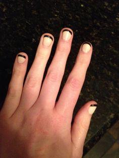 Black & Buff French Gel Manicure