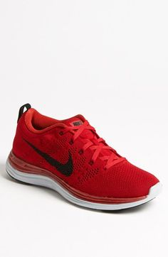 71212f98cb Nike Flyknit One Running Shoe in Red for Men (Gym Red  Black  Pure Platinum)