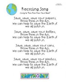"Recycling Song - Earning the ""Use Resources Wisely"" Daisy Petal (dark green)"