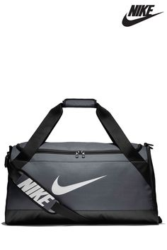 14bcd480e2c7b Mens Nike Grey Brazillia Duffle Bag - Grey