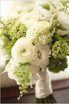 eco-friendly green wedding bouquet
