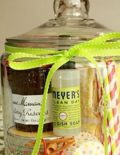 Christmas Gifts in a Jar - An Evening of Pampering  - Click pic for 25 Christmas Gifts in a Jar