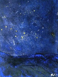 Starry Sky Emil Nolde - 1938-1945 oil painting