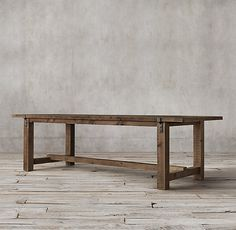 Reclaimed Wood & Zinc Strap Dining Table