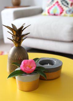 Zebony Design little concrete pots