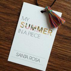 New Hangtags! @santarosaswimwear