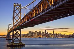 Bay Bridge at Sunset - San Francisco - CA -