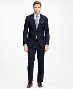 Men's Fitzgerald Fit BrooksCool Navy Blue Suit | Brooks Brothers
