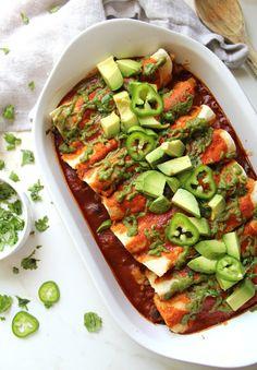 Black Bean Potato Vegan Enchiladas | This Savory Vegan